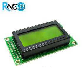 نمایشگر LCD کاراکتری 2x8 سبز (پایه کنار)