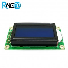 LCD کاراکتری 8*2 آبی (پایه کنار)