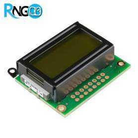 نمایشگر LCD کاراکتری 2x8 سبز (پایه زیر)