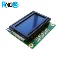 LCD کاراکتری 8*2 آبی (پایه زیر)