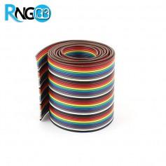 کابل فلت 40 رشته رنگی یک متری