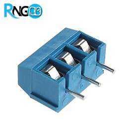 ترمینال پیچی مدل KF301-3pin رنگ آبی کوچک