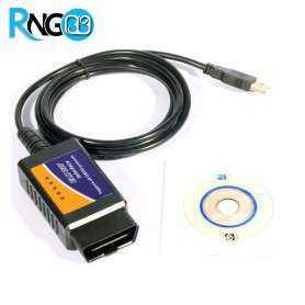 اسکنر OBD/OBDII - مبدل ELM327 رابط USB واحد ECU خودرو