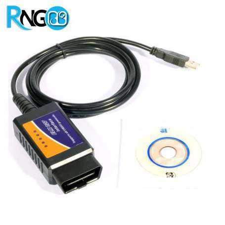 اسکنر OBD/OBDII - مبدل ELM 327 ای سی یو - رابط USB