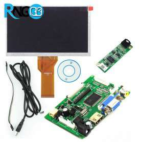 مجموعه نمایشگر 7 اینچی با ورودی VGA + HDMI + AV مناسب همه بردها