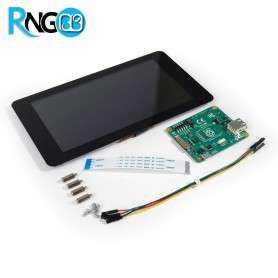 نمایشگر و تاچ اسکرین خازنی 7 اینچ رزبری پای Raspberry Pi - اورجینال
