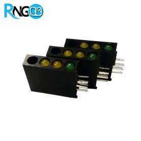 LED قابدار 3تایی سبز-زرد رایت 3mm