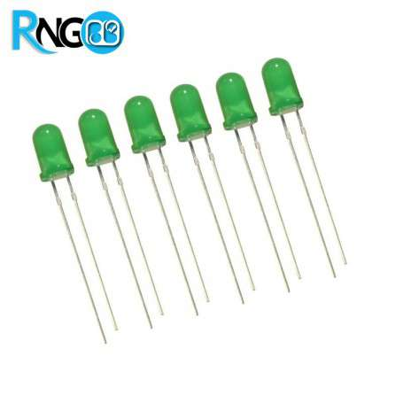 LED سبز مات 5mm (بسته 10 تایی)