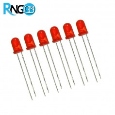 LED قرمز مات 5mm (بسته 10 تایی)