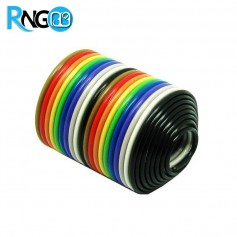 کابل فلت رنگی 20 رشته یک متری