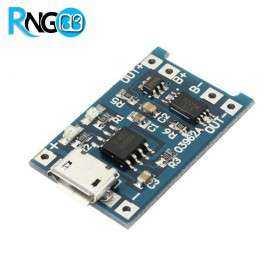 شارژر 5V 1A میکرو USB باتری های لیتیومی به همراه محافظ