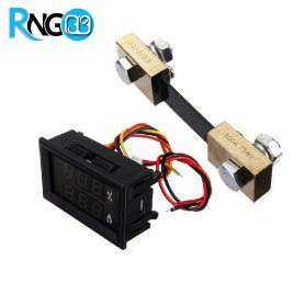 ولتمتر 0v-200v و آمپرمتر 100A روپانلی DC