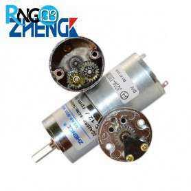 موتور گیربکس 12 ولت ZGA25-100RPM
