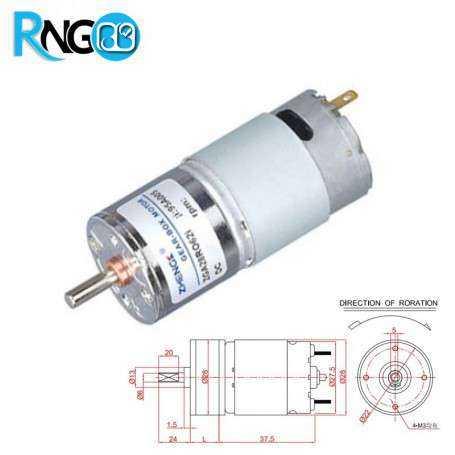 موتور گیربکس 12 ولت ZGA28-10RPM