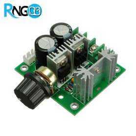 برد صنعتی دیمر / کنترل دور موتور 12V-40V 10A DC