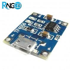 ماژول شارژر Micro USB باتری های لیتیومی 1A