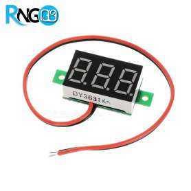 ماژول ولتمتر 3 دیجیت 30-0 ولت DC دوسیمه قرمز رنگ