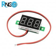 ماژول ولتمتر 3 دیجیت 30-0 ولت DC دوسیمه سبز رنگ