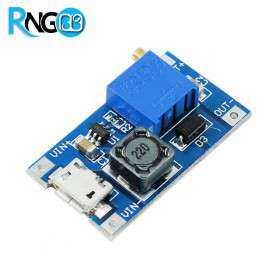 ماژول مبدل DC-DC افزاینده 2A دارای ورودی Micro USB ولتاژ خروجی متغیر