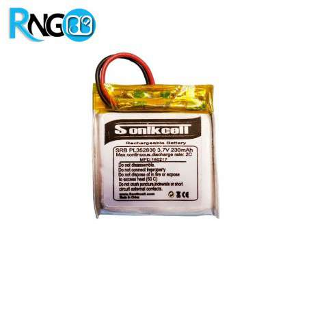 باتری لیتیوم پلیمر 3.7v ظرفیت 180mAh