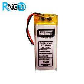 باتری لیتیوم پلیمر 3.7v-230mAh سایز 551730 مارک Sonikcell