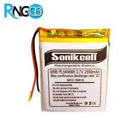 باتری لیتیوم پلیمر 3.7v-2550mAh سایز 545668 مارک Sonikcell