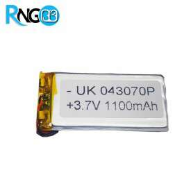 باتری لیتیوم پلیمر 3.7v-1100mAh سایز 043070 مارک UK