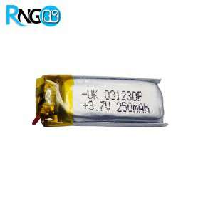 باتری لیتیوم پلیمر 3.7v-250mAh سایز 031230 مارک UK