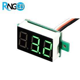 ماژول ولتمتر 3 دیجیت DC0-99.9V سایز 0.28 اینچ رنگ سبز