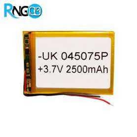 باتری لیتیوم پلیمر 3.7v-2500mAh سایز 045075 مارک UK