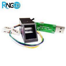ماژول اثر انگشت AS608 همراه با مبدل USB به سریال