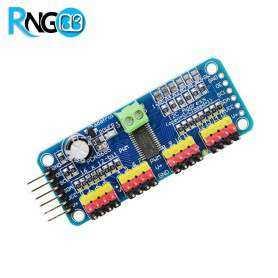 ماژول درایور PWM / سروو 16 کاناله 12 بیتی PCA9685 با رابط I2C