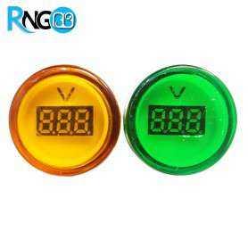 ولتمتر DC چراغ سیگنالی زرد برند JBH
