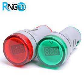 ولتمتر DC چراغ سیگنالی قرمز برند JBH