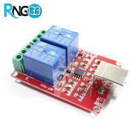 ماژول دو کاناله کنترل رله USB
