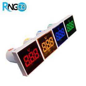 ولتمتر AC چراغ سیگنالی آبی مربعی برند JBH