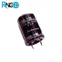 خازن الکترولیتی 330uF / 200v مارک Rubycon