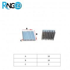 هیت سینک 18x18x5mm کد 105 مناسب قطعات SMD