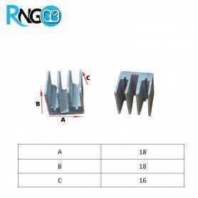 هیت سینک 17x17x16mm کد 141 مناسب قطعات SMD