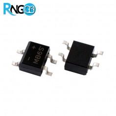 پل دیود 600V / 0.5A مربعی MB6S اورجینال