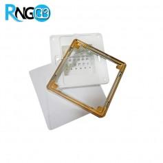 قاب کلید لمسی MBS10i خام (بدنه+فریم+پنل+کارتن) آبکاری طلایی