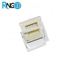قاب کلید لمسی MBS12i خام (بدنه+فریم+پنل+کارتن) رنگ سفید