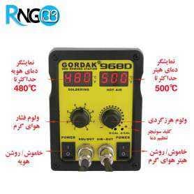 هیتر دو کاره دیجیتال کوچک و قابل حمل مدل GORDAK 968D