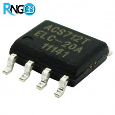 ACS712ELCTR-20A-T سنسور جریان 20 آمپر DCوAC