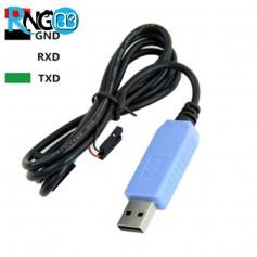 کابل PL2303TA مبدل USB به سریال(TTL) سازگار با Win10