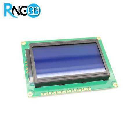 نمایشگر گرافیکی GLCD 64*128 پس زمینه آبی