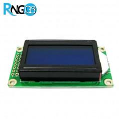 نمایشگر LCD کاراکتری 2x8 آبی (پایه کنار)