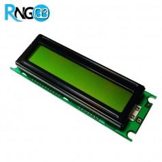 نمایشگر LCD کاراکتری 2x16 سبز (پایه کنار)