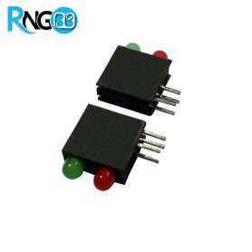 LED قابدار دوبل سبز-قرمز رایت 3mm (بسته 10 تایی)