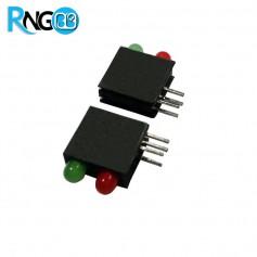 LED قابدار دوبل سبز-قرمز رایت 3mm